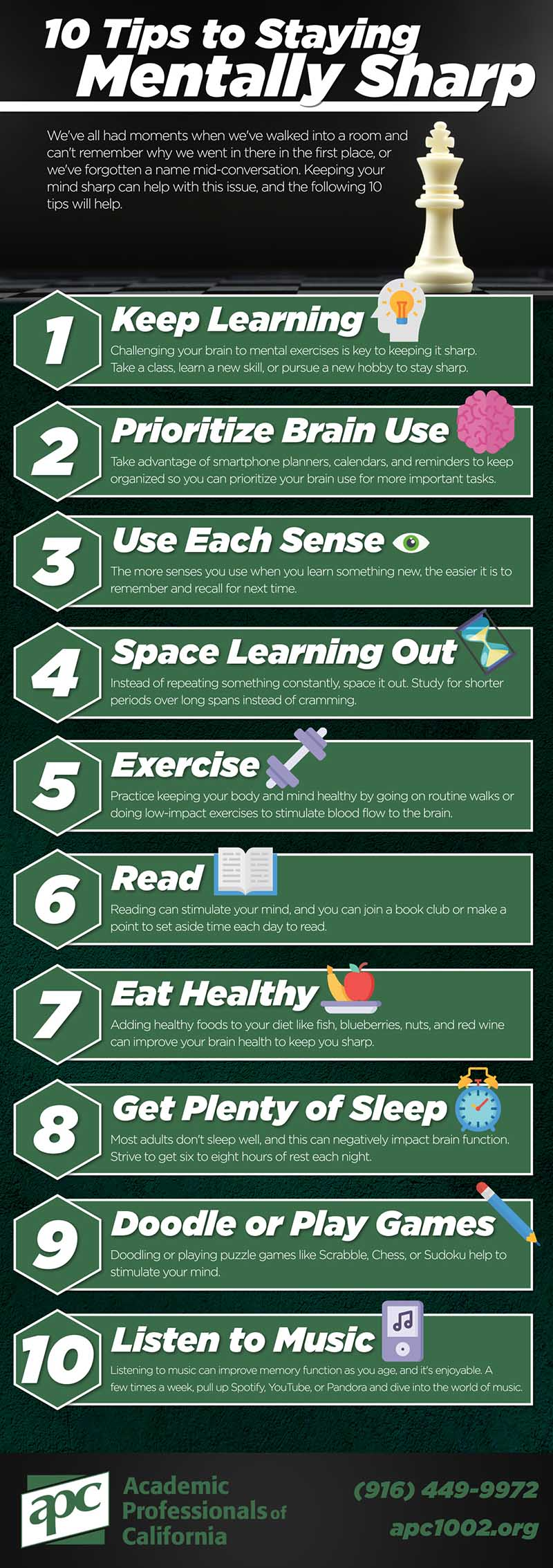 10 Tips to Staying Mentally Sharp