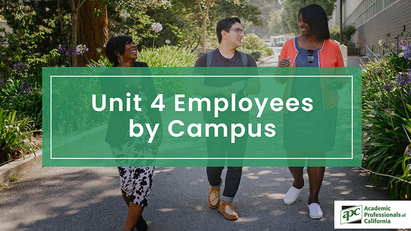 Unit 4 Employees by Campus
